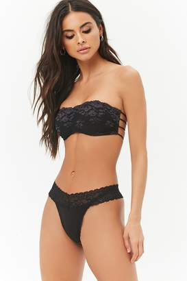 Forever 21 Cotton Lace Thong