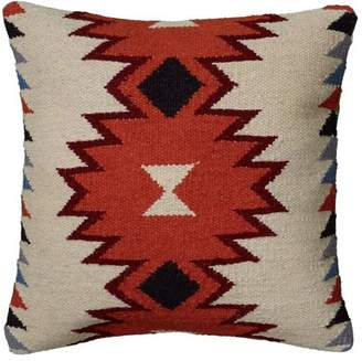 "Rizzy Home Southwest Pillow 18"" x 18"" in Orange Color"