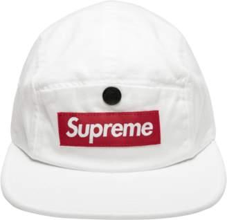Supreme Snap Button Pocket Camp Cap - 'FW 18' - White