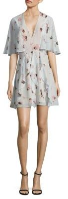 BCBGMAXAZRIA Silk Cape Dress $338 thestylecure.com