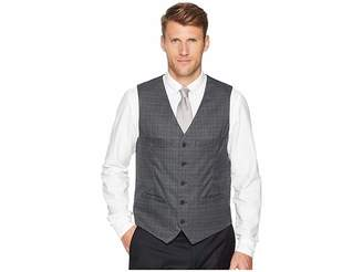 Perry Ellis Slim Fit Washable Plaid Suit Vest