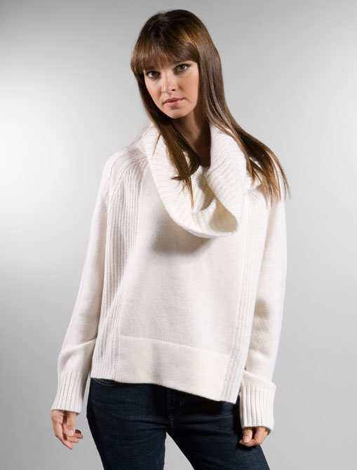 Pencey Oversized Cowl Sweater in Ivory