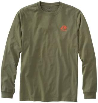 L.L. Bean L.L.Bean Men's Lakewashed Garment-Dyed Graphic Tee, Long-Sleeve Slightly Fitted Tent