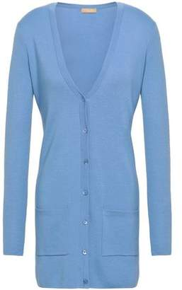 Michael Kors Merino Wool, Silk And Cashmere-blend Cardigan