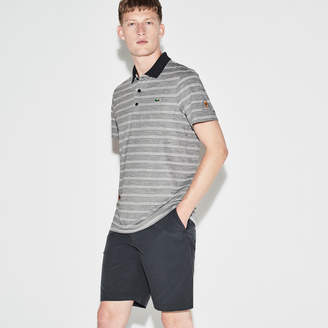 Lacoste Men's SPORT Presidents Cup Edition Striped Jersey Polo