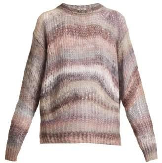 Acne Studios Striped Oversized Sweater - Womens - Grey Multi