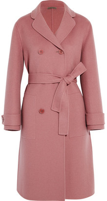 Bottega Veneta - Double-breasted Cashmere Coat - Antique rose $5,400 thestylecure.com