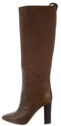 Chloé Two-Tone Knee-High Boots