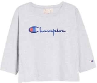 Champion Logo Crop Tee