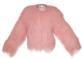 Sabrina Popski London Shearling Jacket In Pale Pink