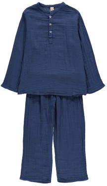 Numero 74 Dan Kurta/Trousers Navy blue