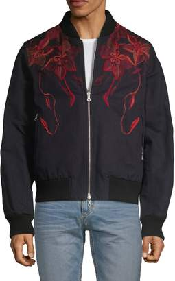 Dries Van Noten Reversible Floral Cotton Linen Bomber