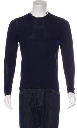 The Kooples Wool Lambskin-Trimmed Sweater