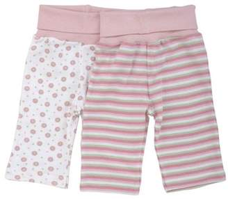 Under the Nile Organic Cotton Rolled Waist Pant - Pink Stripe nb-3m