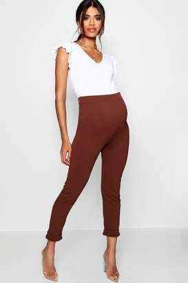 boohoo Maternity Turn Up Cuff Trouser