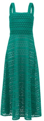 Gioia Bini Lucinda Macrame Lace Maxi Dress - Womens - Green