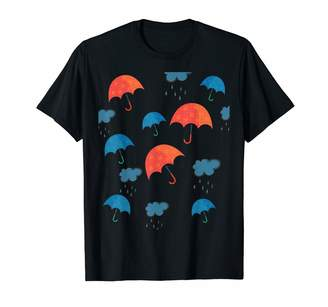 Sisters Trading Rainy Day Umbrellas And Rain Clouds T-Shirt