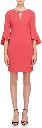 Vince Camuto Berry Embellished Bell Sleeve Dress