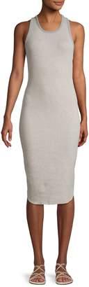 James Perse Racerback Cotton-Blend Bodycon Dress