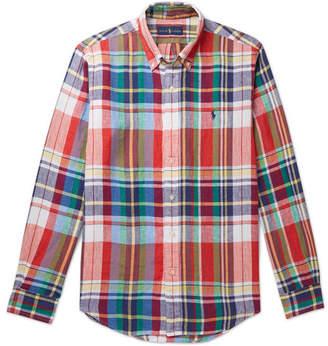 bdef644c4 Polo Ralph Lauren Button-Down Collar Checked Linen Shirt