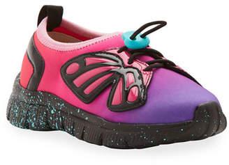 Sophia Webster Fly-Bi Gradient Scuba Mesh Butterfly-Wing Sneakers, Toddler/Kids