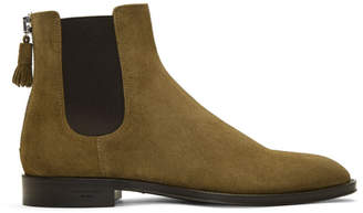 Givenchy Beige Suede Rider Boots