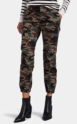 "Nili Lotan Women's ""French Military"" Camouflage Cotton Crop Pants - Brown"