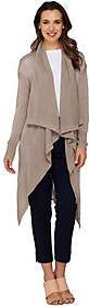 Halston H by Cowl Neck Long Cardigan