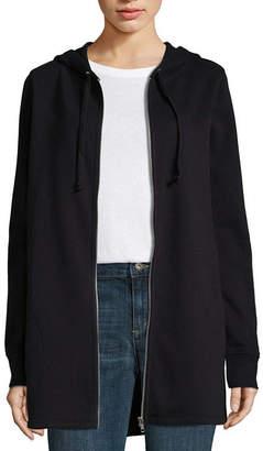 Liz Claiborne Womens Long Sleeve Knit Hoodie