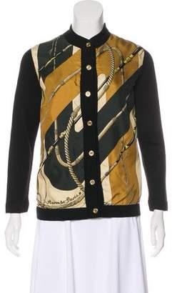 Hermes Silk & Wool Blend-Cardigan