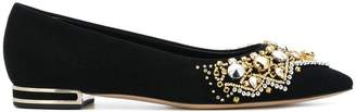 Casadei embellished ballerina shoes