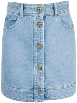 bf11fd3ccf Tommy Hilfiger quilted panel denim skirt