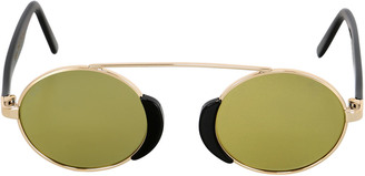 Togo Metal Round Mirrored Sunglasses $388 thestylecure.com