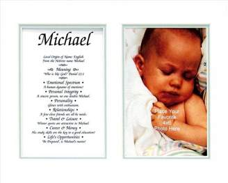 Keepsake Tpwmsemd Townsend FN03Paxton Personalized Matted Frame With The Name & Its Meaning - Paxton