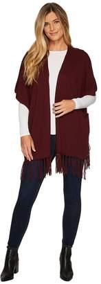 NYDJ Sweater Wrap w/ Fringe Women's Sweater