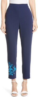 Ted Baker Embroidered Detail Slim Pants