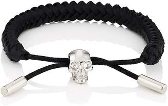 Alexander McQueen Men's Braided Leather Bracelet