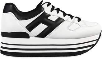 Hogan 70mm Maxi 222 Leather Sneakers