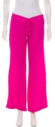 Georgie Silk Wide-Leg Pants