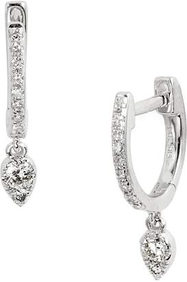 Ef Collection Diamond Teardrop Huggies