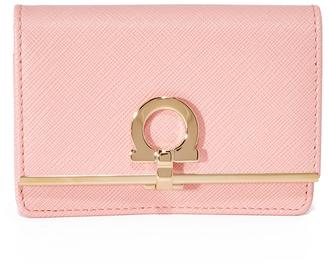 Salvatore Ferragamo Gancini Icona Wallet $350 thestylecure.com