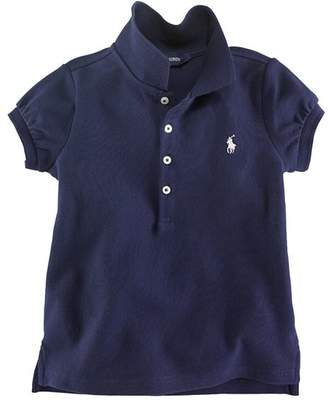 Ralph Lauren Girls' Mesh Knit Polo - Little Kid