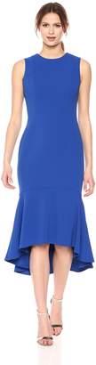 Calvin Klein Women's Sleeveless High Low Flounce Hem Dress