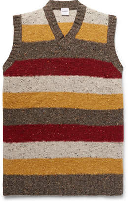 Aspesi Slim-Fit Striped Donegal Wool Sweater Vest