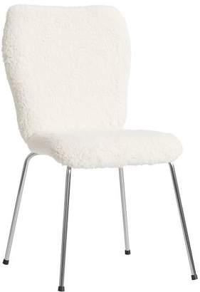 Pottery Barn Teen Ivory Sherpa Stationary Airgo Chair
