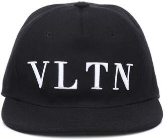 Valentino embroidered wool-blend cap