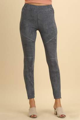Umgee USA Suede Moto Jeggings