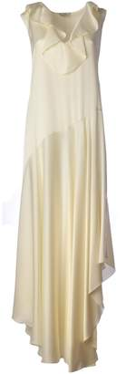 Fendi Ruffle Trim Sleeveless Maxi Dress