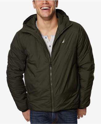 Nautica Men's Rip-Stop Hooded Jacket