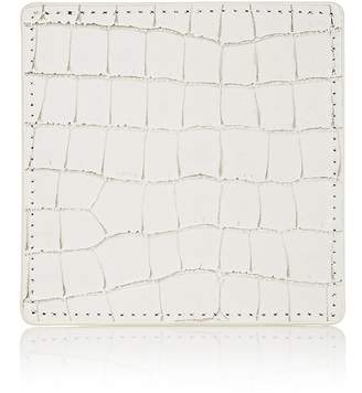 Barneys New York Croc-Embossed Leather Coaster